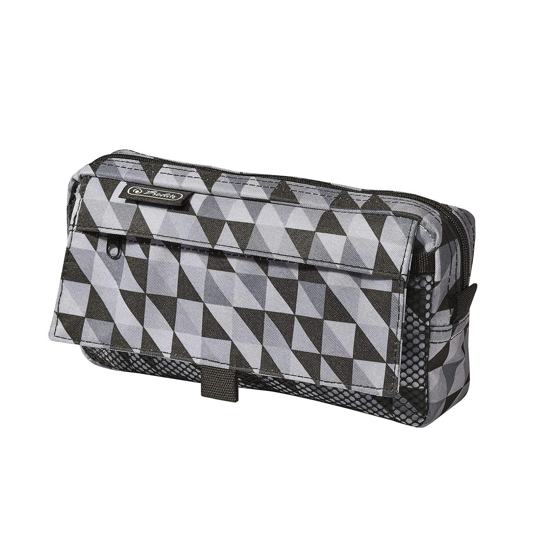 Motiv: Black/&Wow Slogan herlitz 50009756 Faulenzer eckig gro/ß 1 Tasche mit Rei/ßverschluss 1 Netztasche mit Klettverschluss 1 St/ück