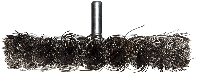 4 Diameter 0.014 Wire Diameter 1//2 Brush Face Width Steel Weiler Standard Wire Wheel Brush Partial Twist Knotted Round Shank 20000 rpm 4 Diameter 0.014 Wire Diameter 1//4 Shank 7//8 Bristle Length 17687 1//4 Shank 7//8 Bristle Length