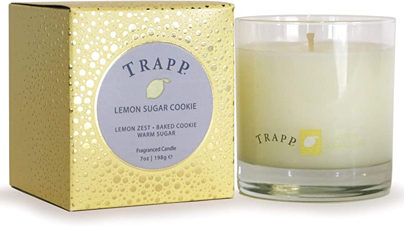 Amazon Com Trapp Seasonal Collection 7oz Poured Scented Candle Lemon Sugar Cookie Home Kitchen