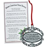 merry christmas from heaven ornament personalized - Merry Christmas From Heaven Poem