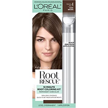Amazon.com: L\'Oréal Paris Root Rescue Hair Color, 4 Dark Brown: Beauty