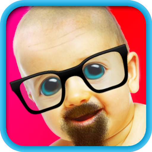 Bald & Mustache Booth Fun Pic (Free)