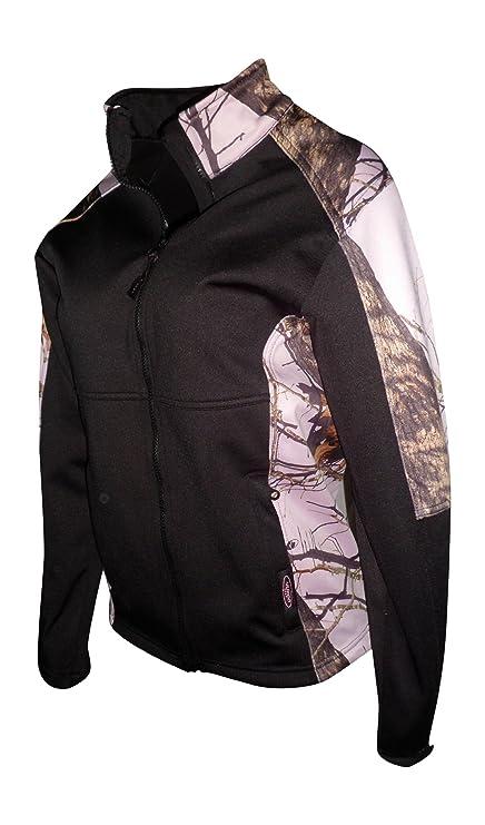 81cddf660a356 Mossy Oak Pink Snow Windproof Fleece Softshell Jacket Black Fits Womens  S-3X (Mossy