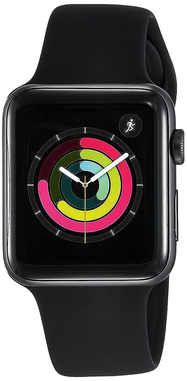 Apple Watch Series 3 GPS 42mm Smart Watch (Space Grey Aluminum Case, Black Sport Band)