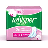 Whisper Ultra Soft XL Plus Sanitary Pads - 15 Count