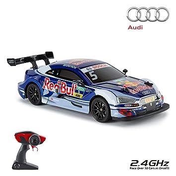 CMJ RC Cars Audi RS5 DTM, Coche con Mando a Distancia Oficial para niños,
