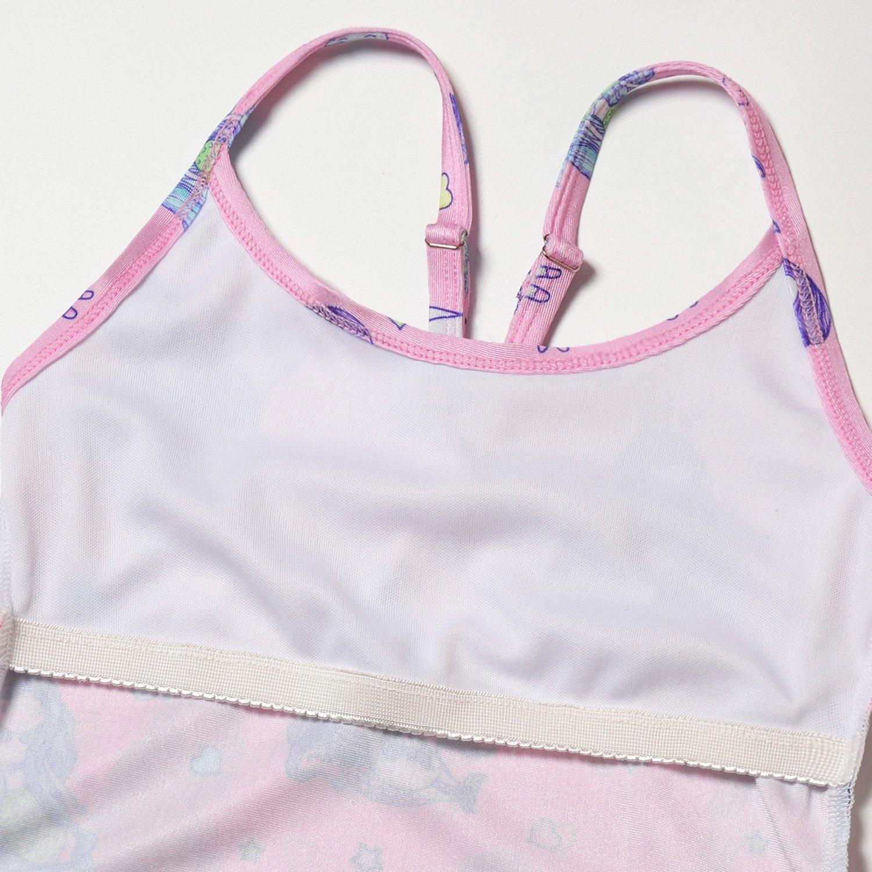 Girls Mermaid One Piece Swimsuits Toddler Kids Adjustable Straps Swimwear Bathing Suits 4-13Years