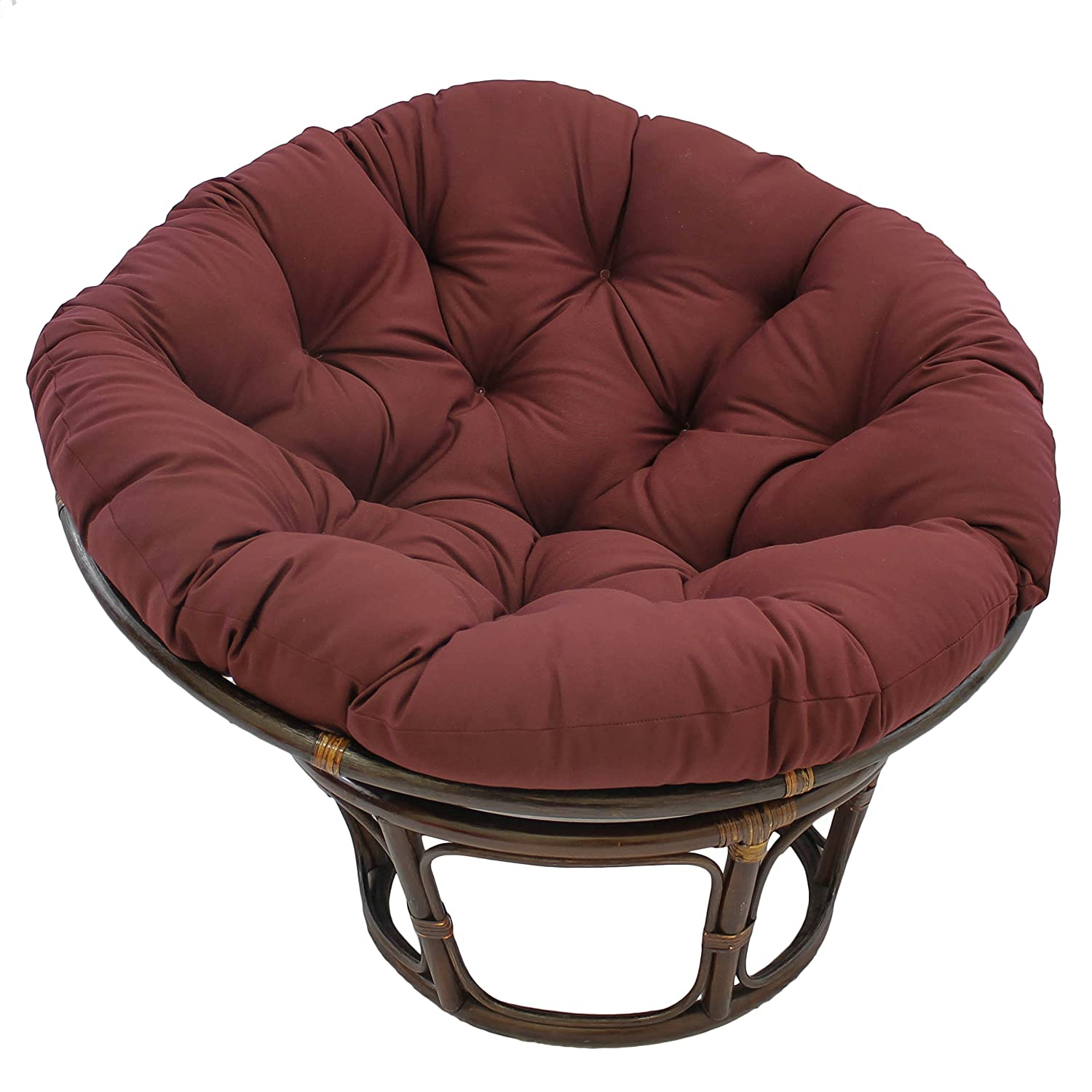 Amazon.com: Blazing Needles Solid Twill Papasan Chair Cushion, 52