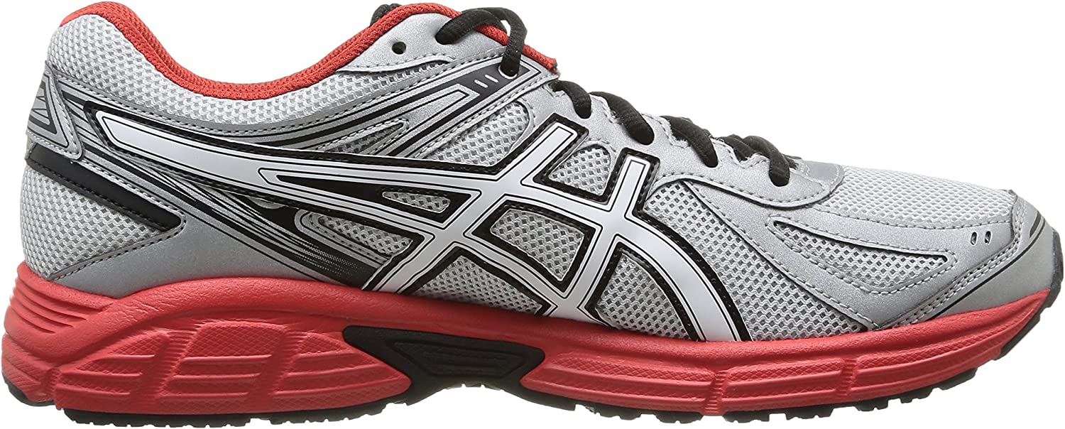 Asics Patriot 7 - Zapatillas de running para hombre, color Silver/Wht/Red, talla 40, Gris (Silver/White/Red 9301), 40: Amazon.es: Zapatos y complementos