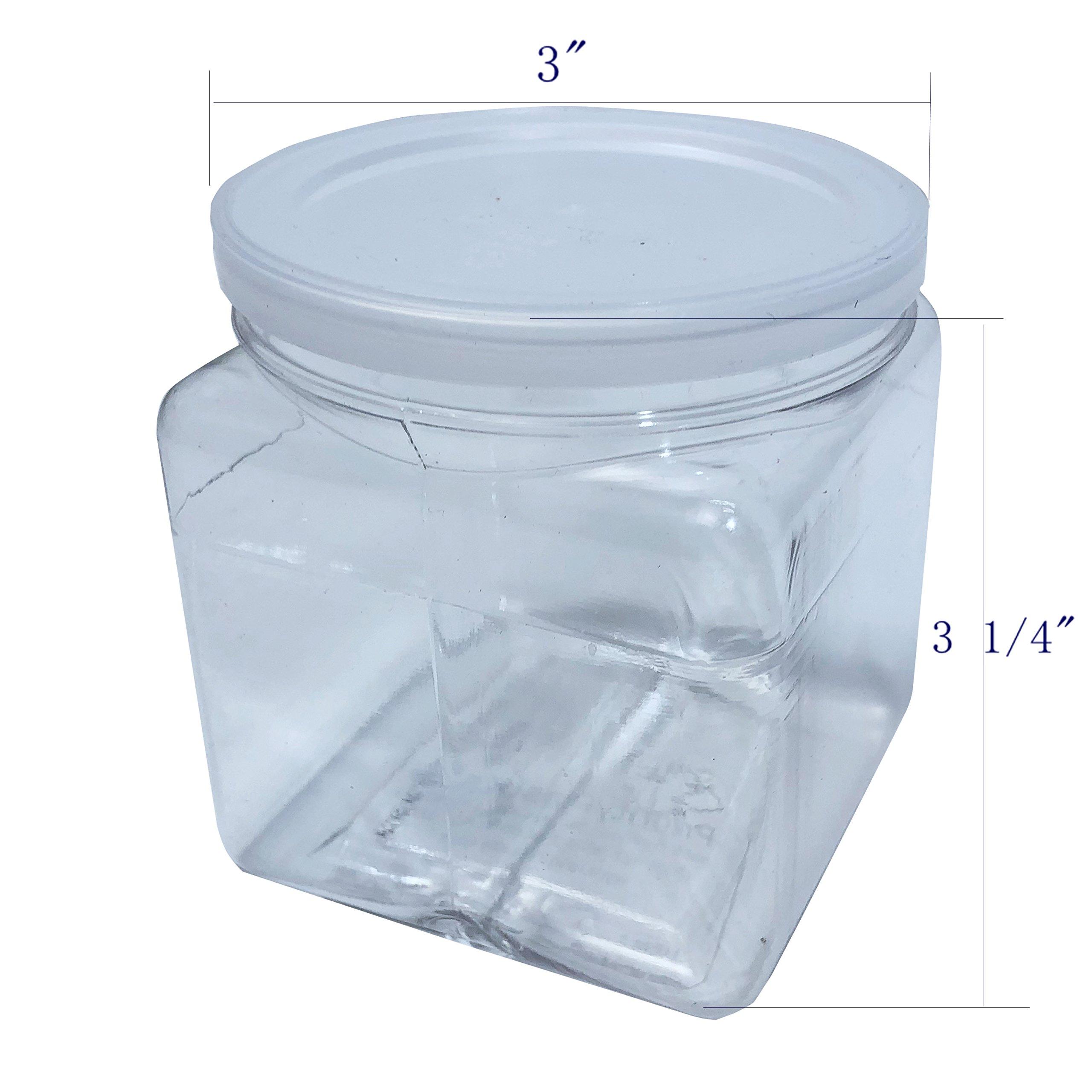 Fixture Displays 14oz PVC Squares 3'' Jar - 120pk 106108!