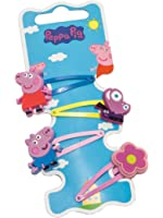 Joy Toy 900678 Peppa Pig 4 Design Hair Clip with Vinyl Figure on Backer Card Pack