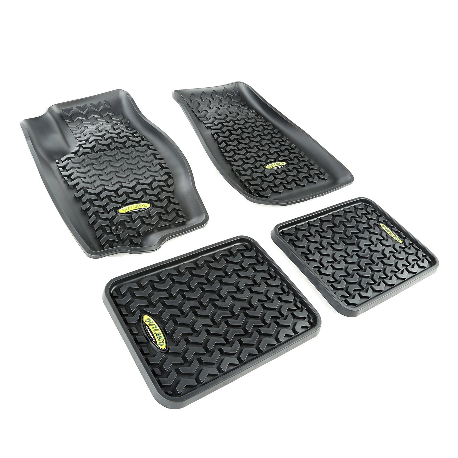 Outland 391498728 Grey Front and Rear Floor Liner Kit For Select Jeep Grand Cherokee Models