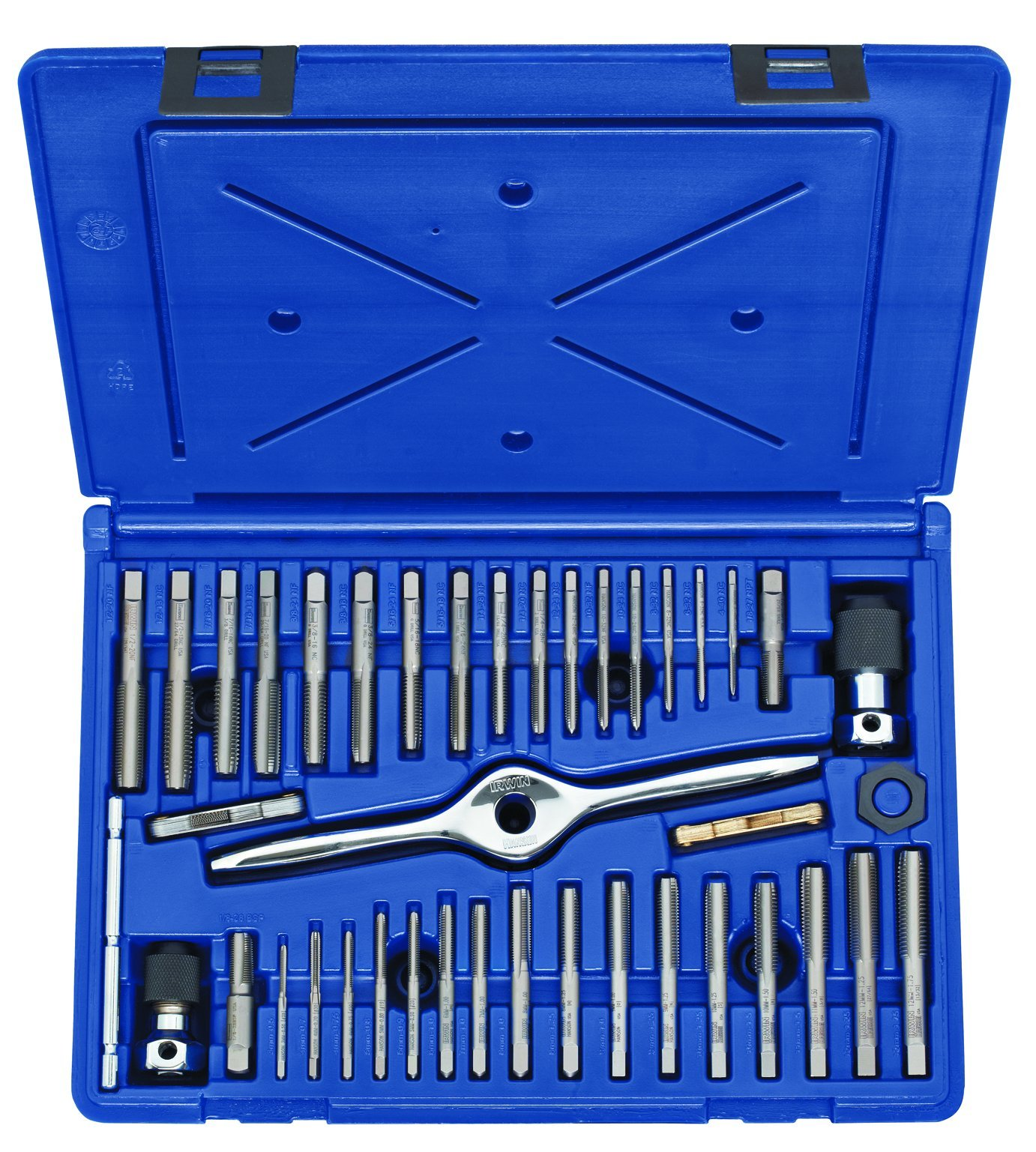 Irwin Tools 1840234 Performance Threading System Plug Tap Set -Machine Screw/Fractional/Metric, 41-Piece by Irwin Tools