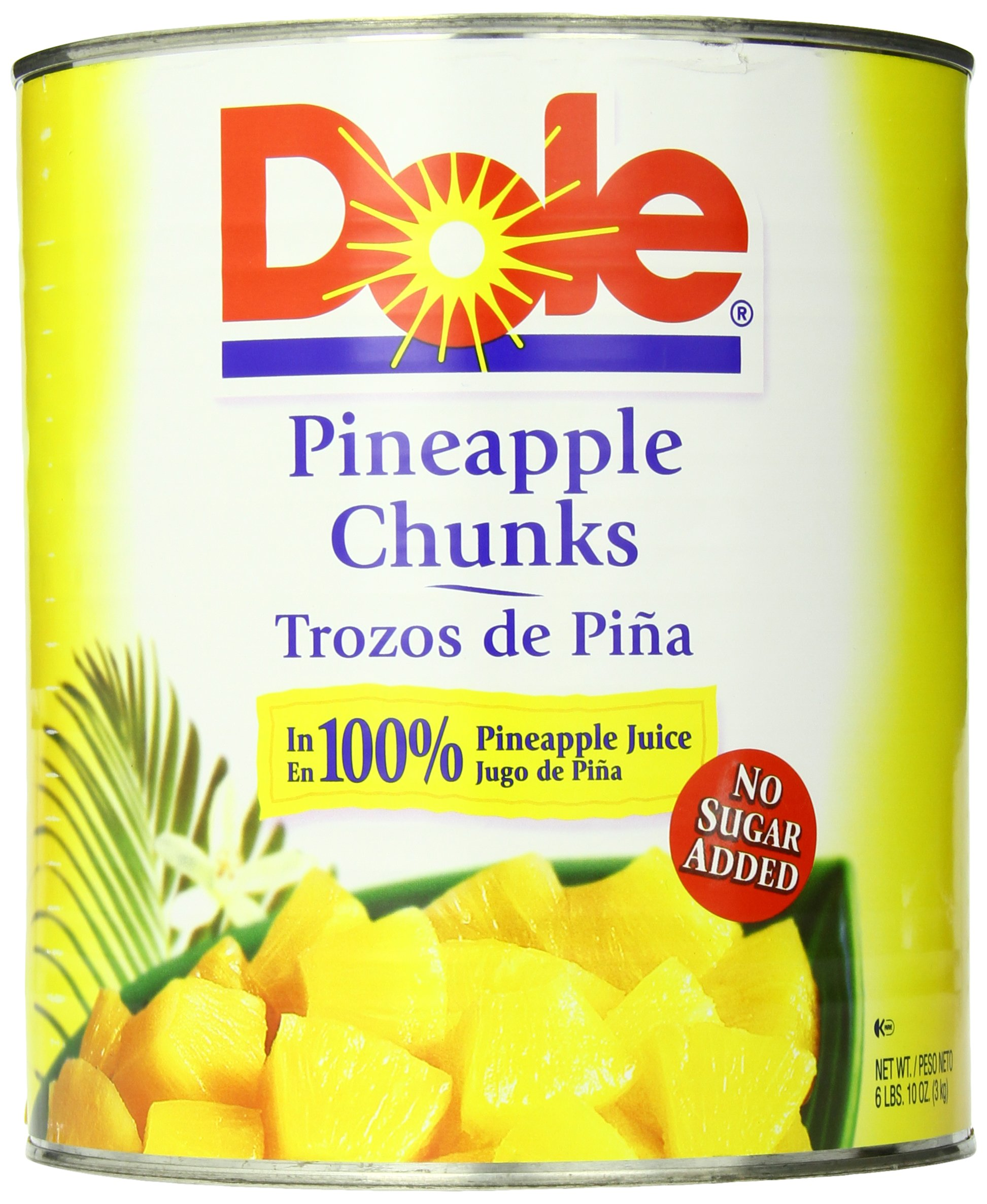 Dole Pineapple Chunks in Juice, 106 Ounce Cans (Pack of 6) by Dole