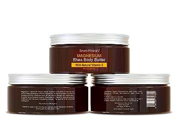 Crema Orgánica de Manteca de Cacao con Magnesio y Vitamina E - Mejor Prevención para el Embarazo - Crema para la Eliminación y Prevención de estrías - 100% ...