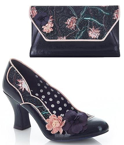 Ruby Shoo Viloa Navy Vintage Style Ruby Shoo Shoes UK 3 Hm9k8WNrd