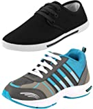 Chevit Men's Combo Pack of 2 Casual Shoes (Sneakers & Running Shoes)