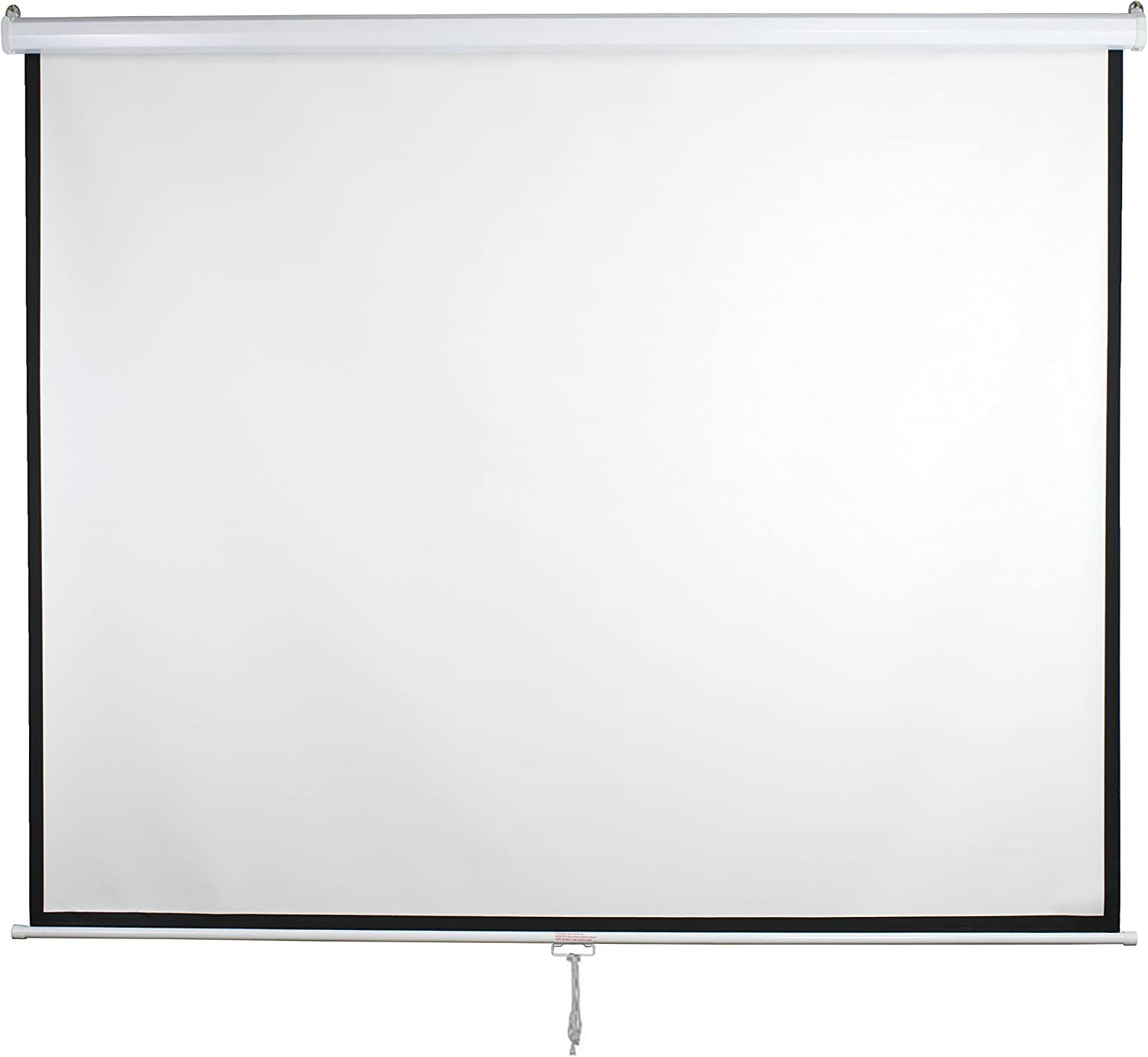 """VIVO 119"""" Projector Screen 84"""" X 84"""" 1:1 Mountable Projection HD Manual Pull Down Home Theater (PS-M-084)"""