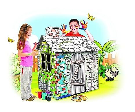 Amazon.com: My Little House Cardboard Playhouse - Large Corrugated ...