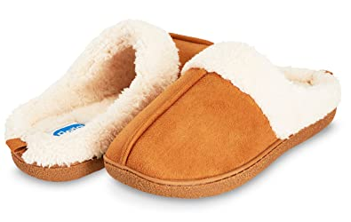 9c0da6e51 Image Unavailable. Image not available for. Color: Floopi Womens Indoor  Outdoor Fur Lined Clog Slipper W/Memory Foam ...