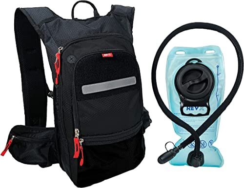 RevX- Thermal Insulated Hydration Backpack and 2L BPA Free Bladder – Keeps Liquid Cool up to 5 Hours for Hiking, OCR, Cycling, Camping,MTB