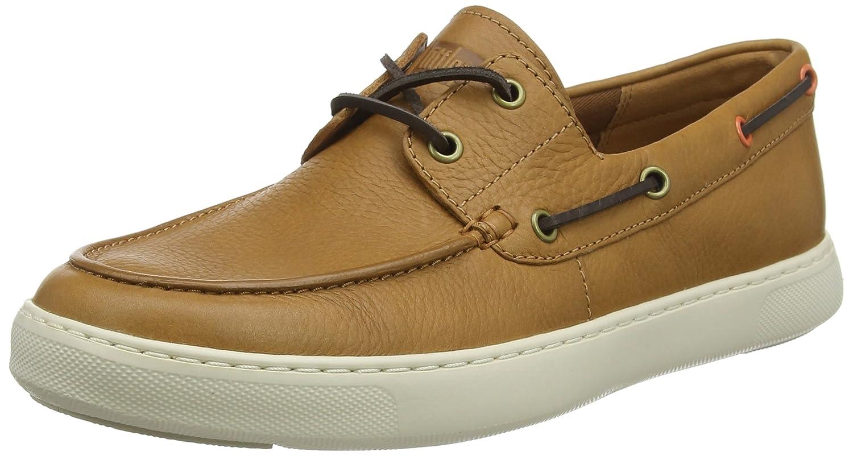 Fitflop Lawrence Boat Shoes, Mocasines para Hombre 47 EU|Marrón (Light Tan 592)