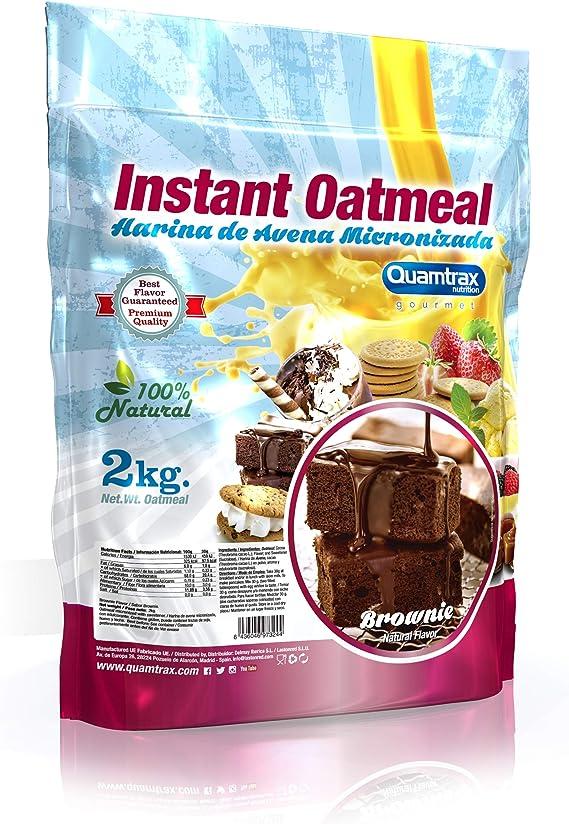 Quamtrax Nutrition Harina de avena micronizada - 2 kg: Amazon.es ...