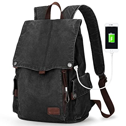 Muzee vintage Canvas Backpack for School bookbag unisex Travel Rucksack for  hiking Mountaineering Bag for men 6a2cc742e2c3f