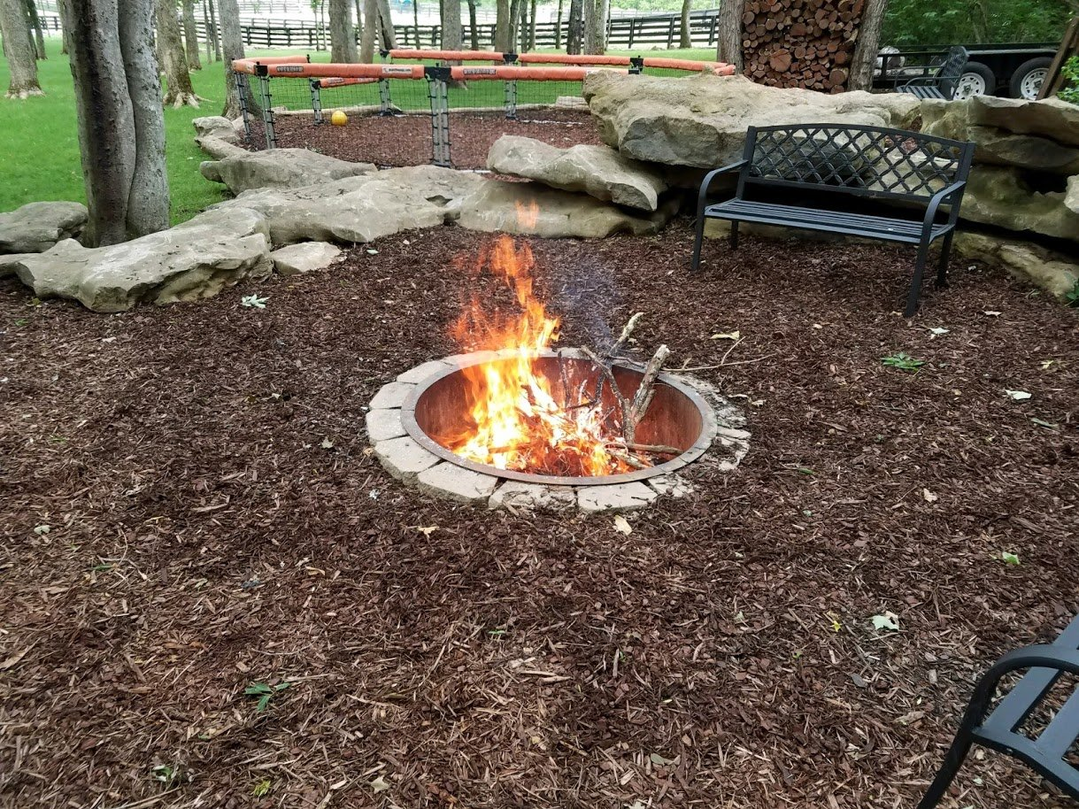 Fire Pit Ring Stainless Steel Liner With Top Rim