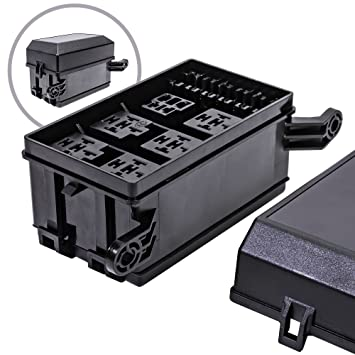 816FwpmR8UL._SY355_ amazon com ols 12 slot relay box [6 relays] [6 blade fuses fuse and relay box for automotive at bayanpartner.co