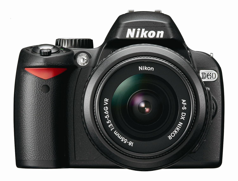 Amazon.com : Nikon D60 DSLR Camera with 18-55mm f/3.5-5.6G Auto Focus-S  Nikkor Zoom Lens : Camera & Photo