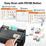 Plustek PS186 High Speed Document Scanner, with