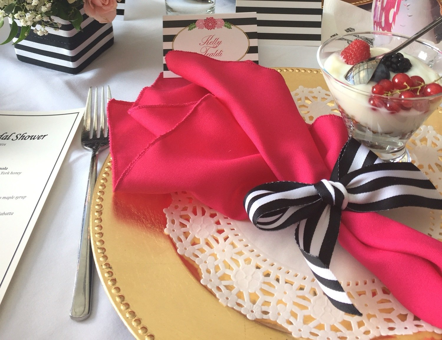 16 heiß Pink Gabardine Cloth Napkins für Dinner Party Birthday Dinner Bridal oder Baby Shower