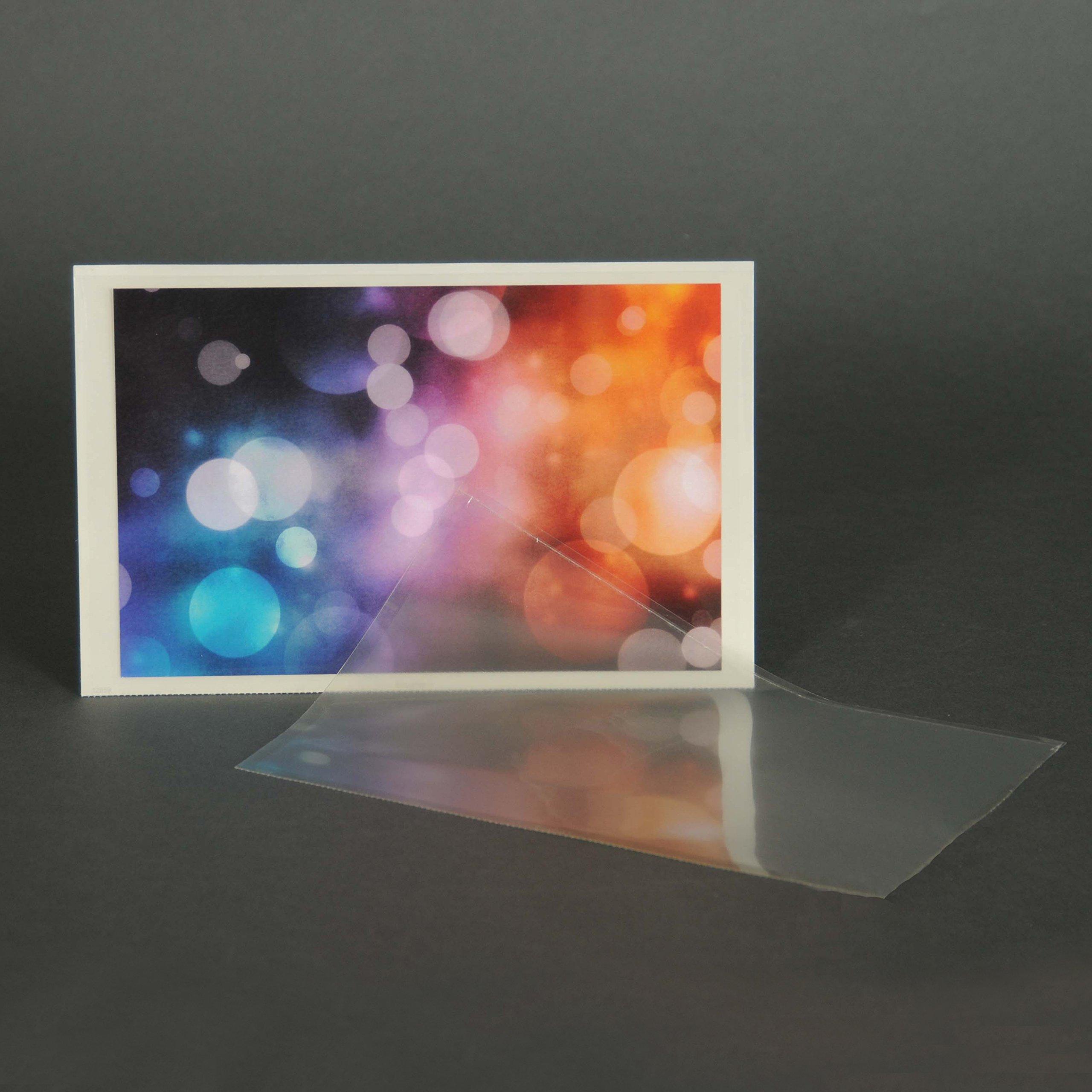Adhesive Poly Half-Page Pocket - Pack of 500 Pockets