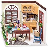 RoWood DIY Miniature Dollhouse Kit, Mini House Model Kit to Build, Gift for Adults Teens - Mrs Charlie's Dining Room
