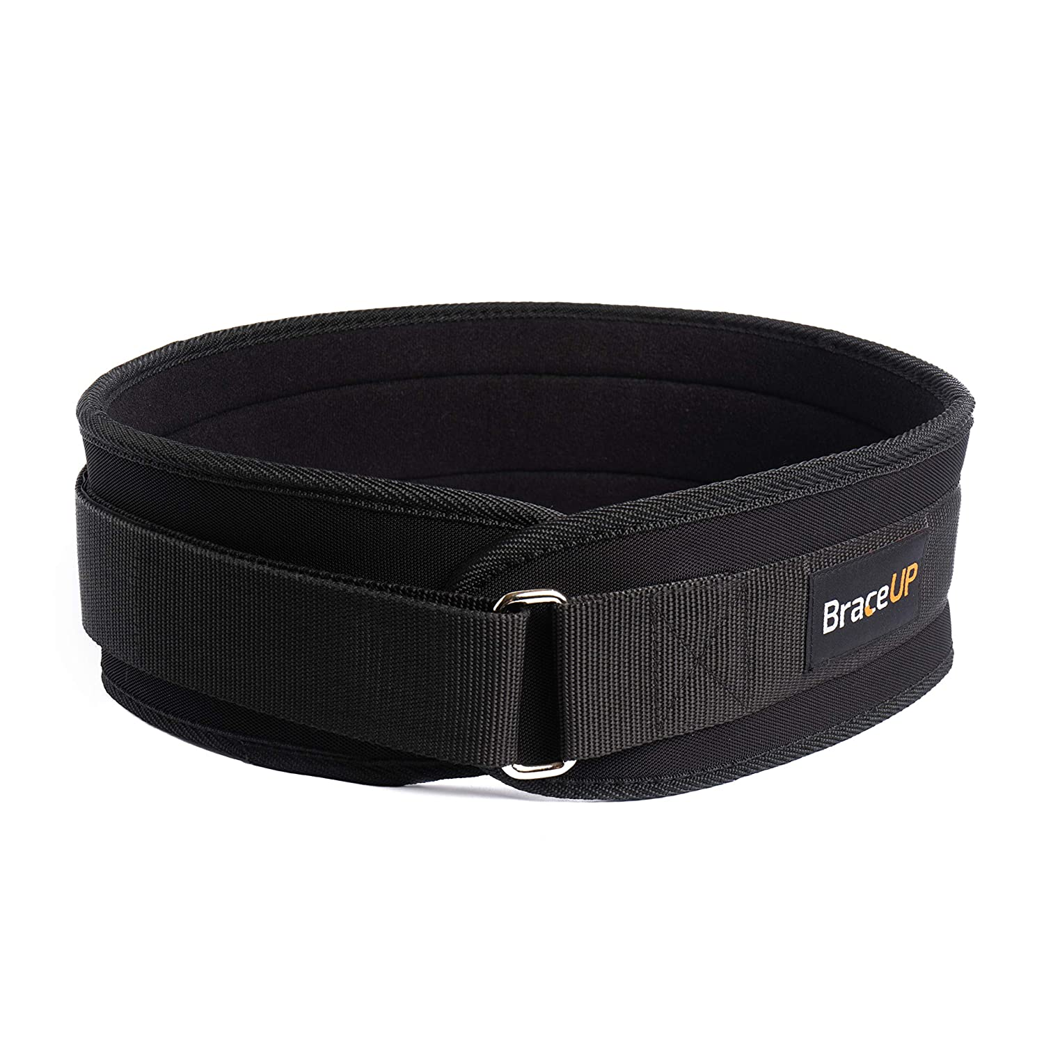 BraceUP Weightlifting Belt 4-inch Wide for Powerlifting, Olympic Lifting, Bodybuilding, Gym Training and Lifting Back Support