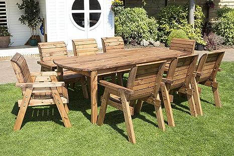 Home Gift Garden - Mesa de jardín Grande de Madera y Juego ...