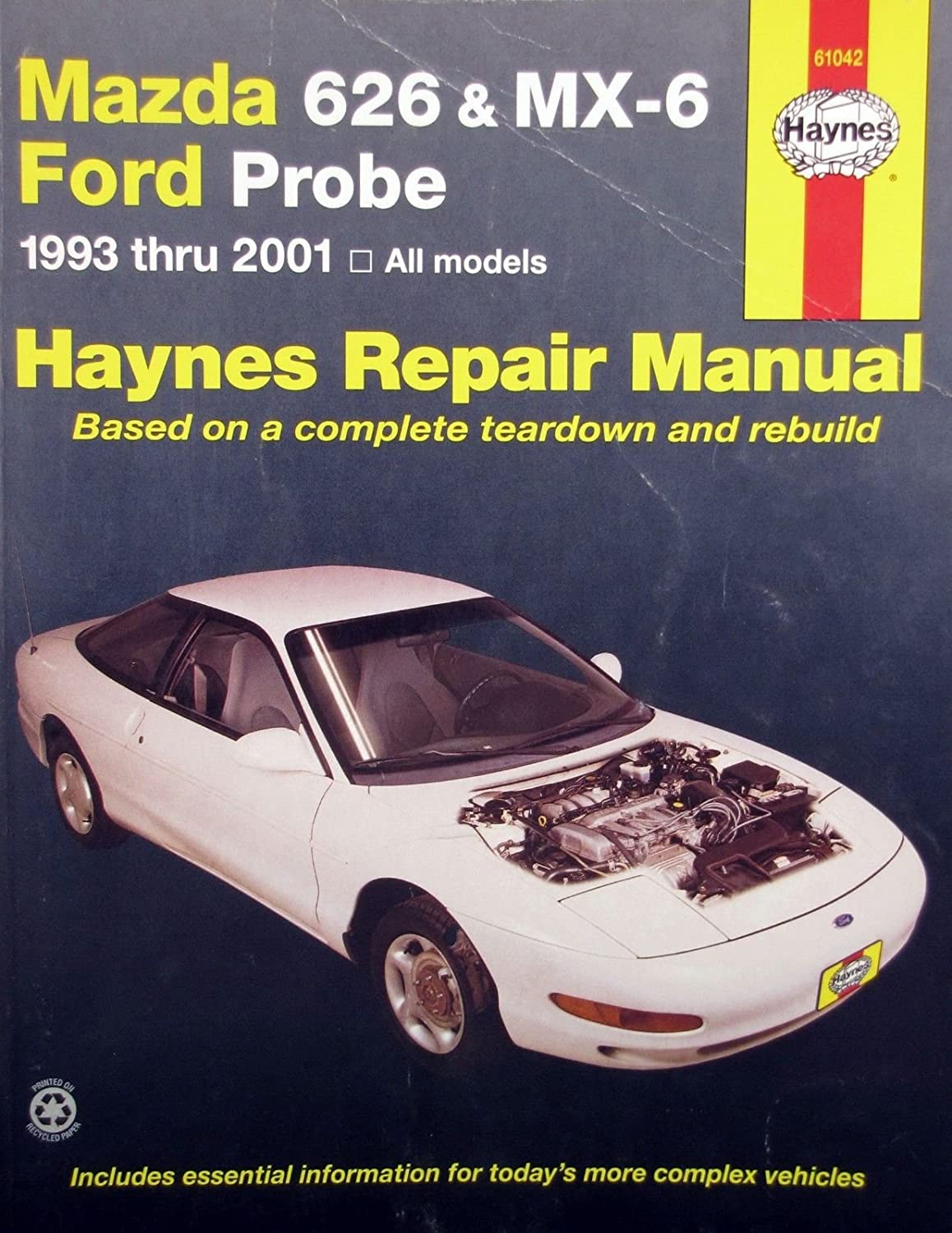 Amazon.com : 1993-2001 Haynes Repair Manual - Mazda 626/MX-6 and Ford Probe  - #61042 : Everything Else