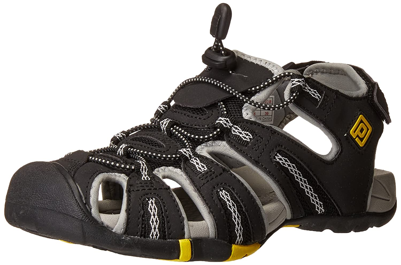 DREAM PAIRS Women's 160912-W Adventurous Summer Outdoor Sandals B01MRUKWC5 5 B(M) US|Black Lt.grey Yellow