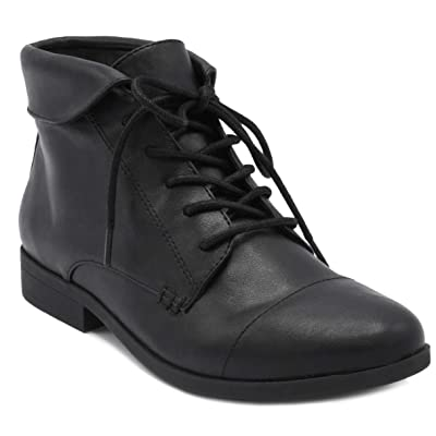 London Fog Crissy Dress Ankle Boot Ladies Lace Up Bootie with Collar | Ankle & Bootie