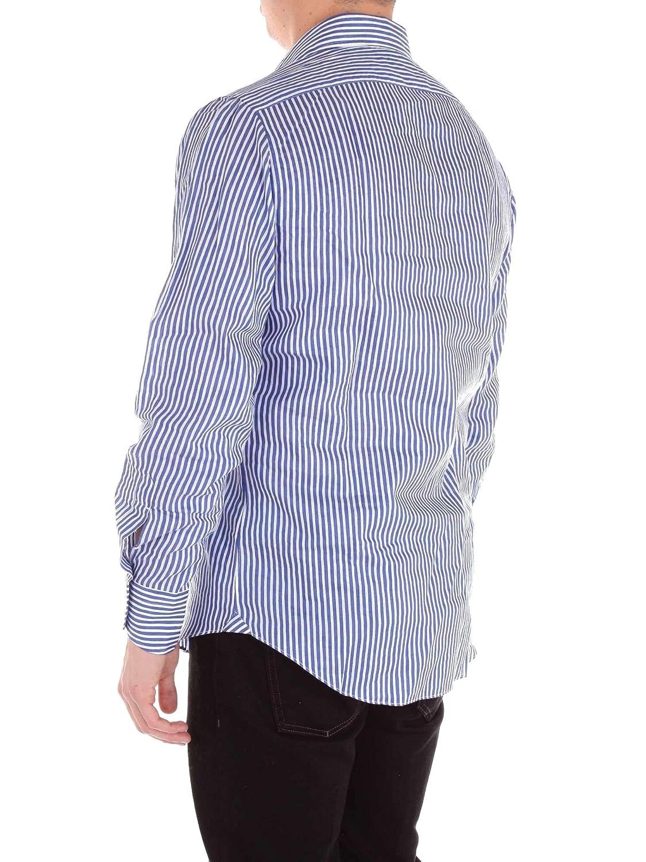 MASSIMO LA PORTA Mens 69051 Blue Cotton Shirt