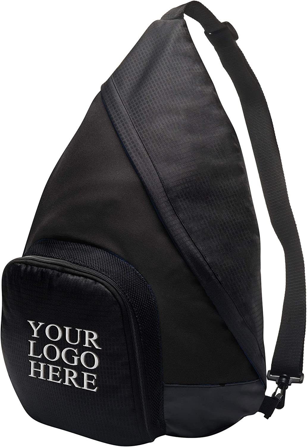Personalized Custom Crossbody Sling Backpack for Women Men – Add Your Embroidered Name Monogram Logo