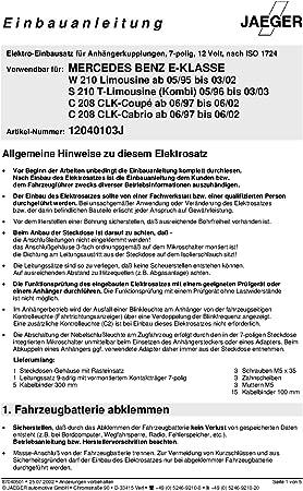 UmbraRimorchi Mercedes CLK Coupe 1997-2002 AHK Abnehmbare Anh/ängerkupplung mit 7p Spezifischer E-Satz UT230COR35ZM//WS12040103DE6