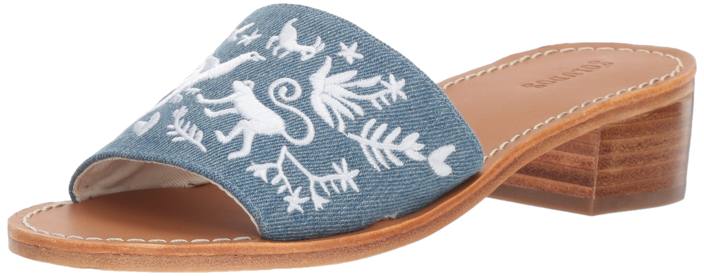 Soludos Women's Otomi City Slide Sandal, Medium Denim, 7.5 B US