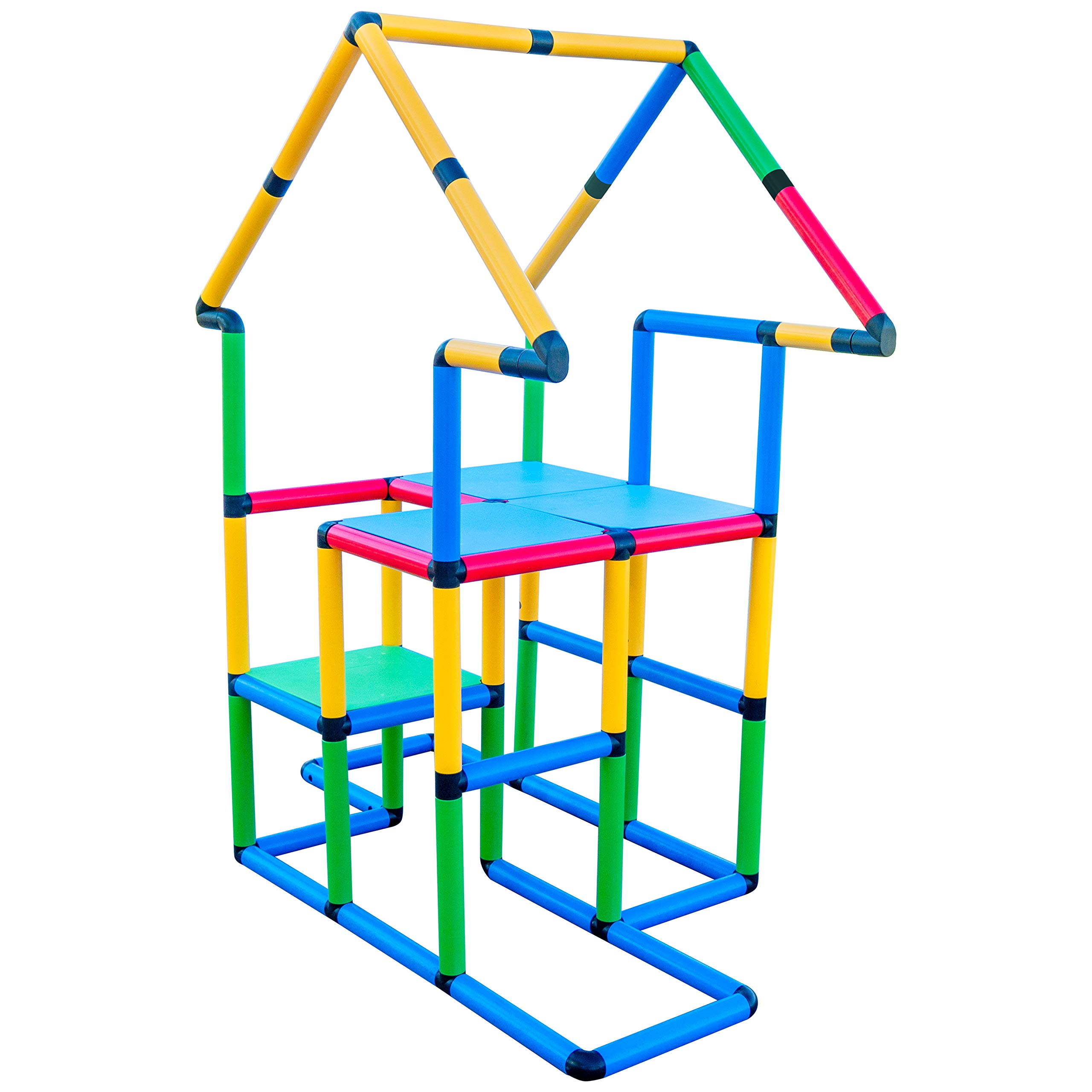 Funphix Deluxe 296 Piece Construction Toy Set - Building Play-Structures for Indoors & Outdoors - Fun & Educational Learning Toys for Ages 2 to 12 by Funphix (Image #5)