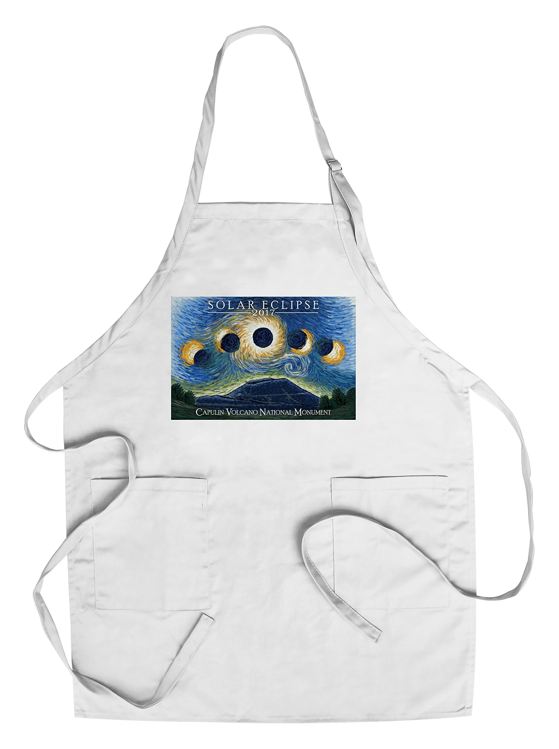 Capulin Volcano National Monument, New Mexico - Starry Night Eclipse (Cotton/Polyester Chef's Apron)
