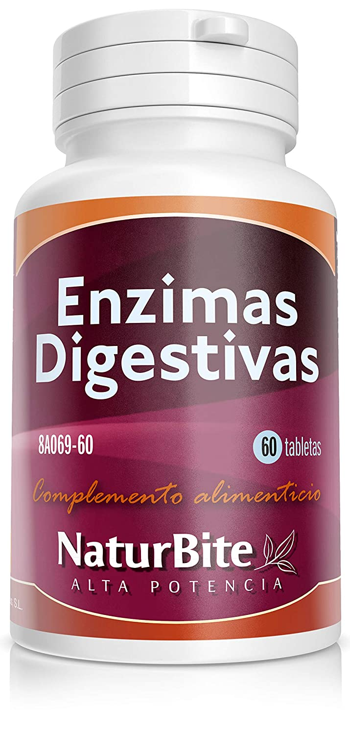 NaturBite Enzimas Digestivas - 60 Tabletas