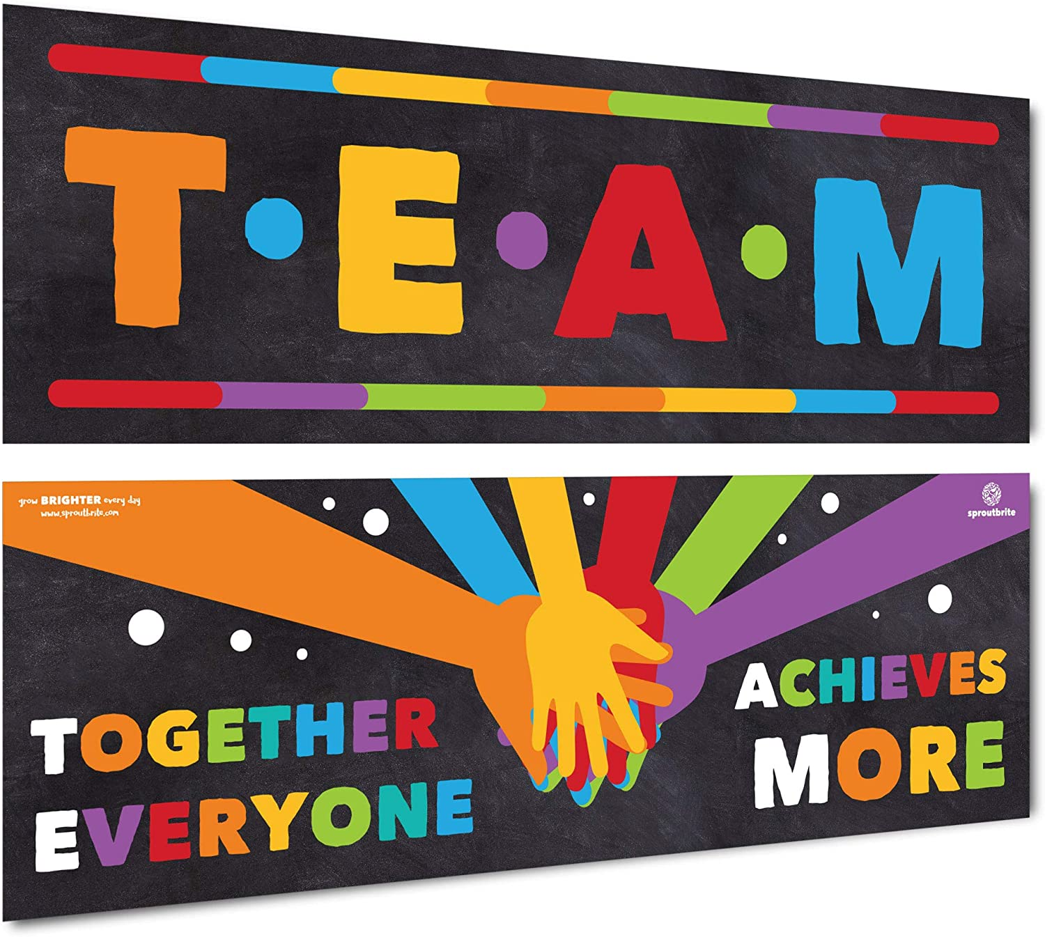 Sproutbrite Classroom Decorations - Banner Posters for Teachers - Team Bulletin Board and Wall Decor for Pre School, Elementary and Middle School