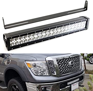iJDMTOY Tow Hitch LED Pod Lamp Kit For 2003-up Dodge RAM 1500 2500 3500 20W High Power CREE LED Pod Lights Off-Road or Search Light 2 Tow Hitch Mount Brackets /& Relay Harness As Reverse Includes