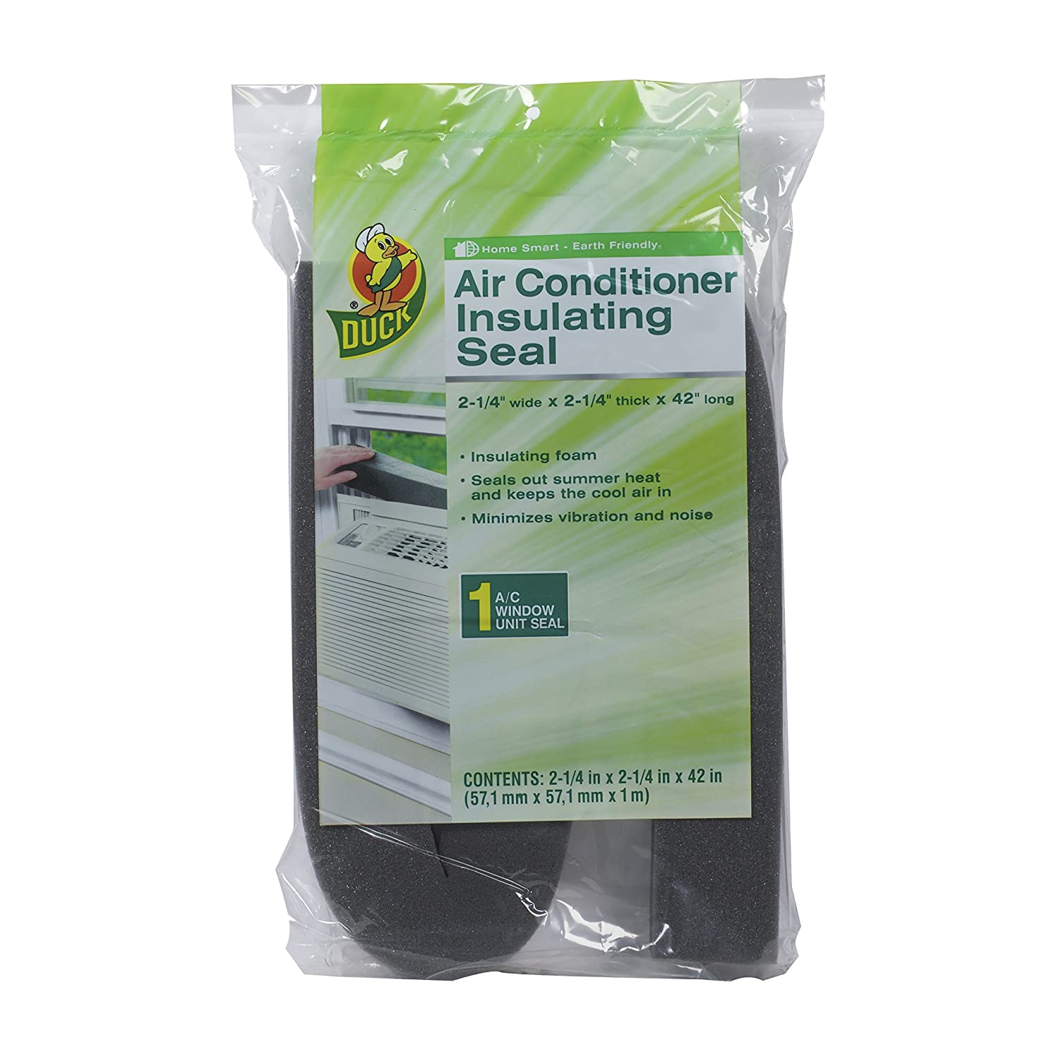 Duck Brand Window Air Conditioner Insulating Strip Seal, 2.25-Inch x 2.25-Inch x 42-Inch, 284423